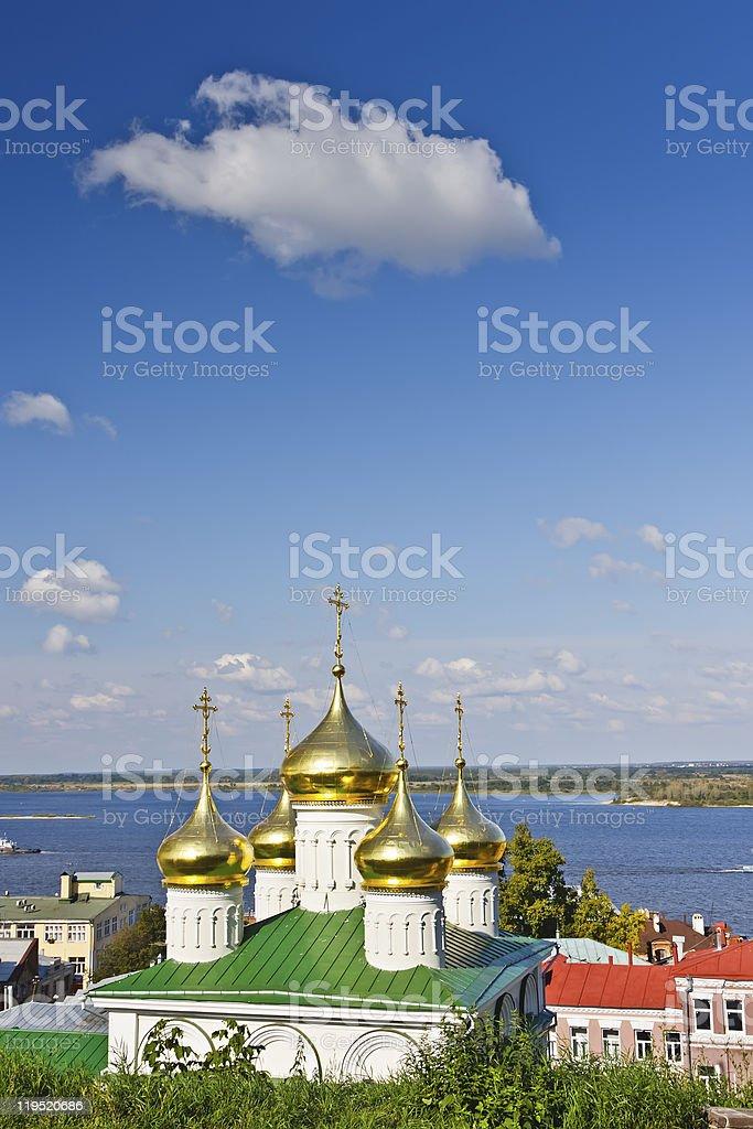 Russian church royalty-free stock photo