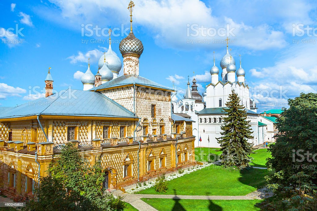 Russian Churches in Rostov Veliky stock photo