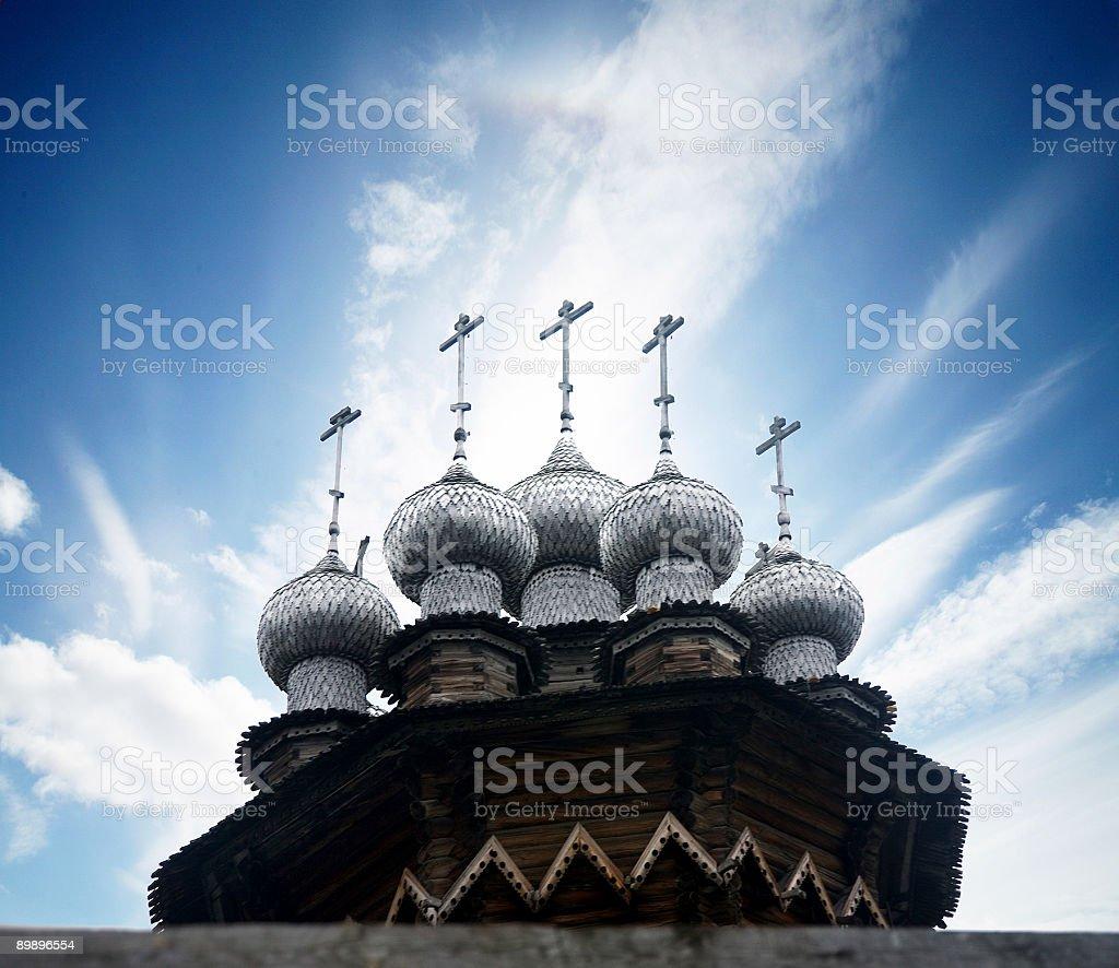 Russian churches, kizhi island, republic of Karjala royalty-free stock photo