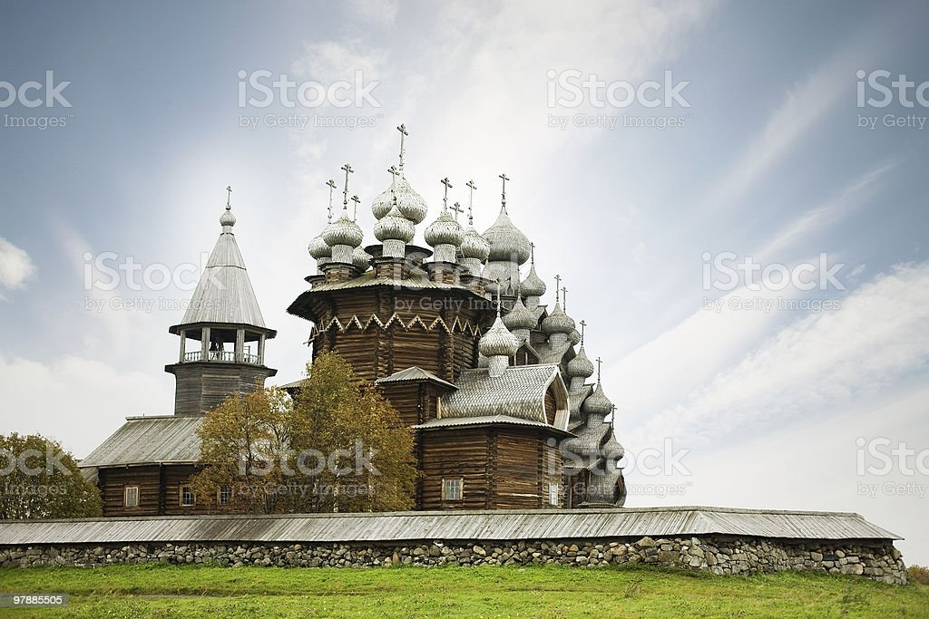 Russian churches stock photo