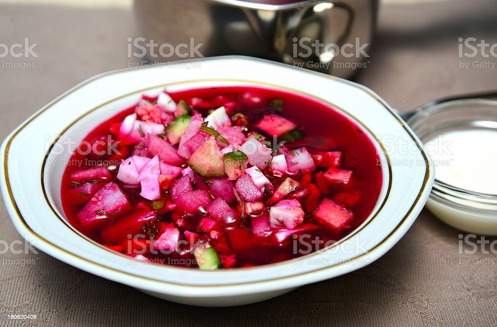 Russian cold soup royalty-free stock photo