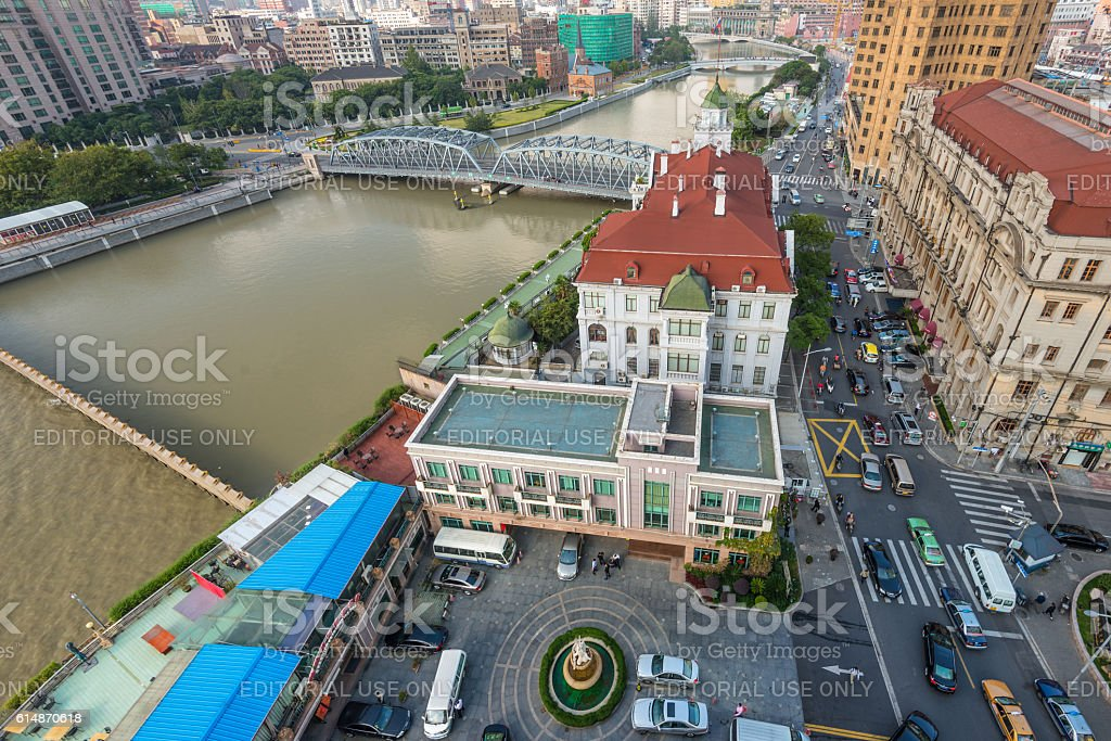 Russian Consulate General in Shanghai stock photo