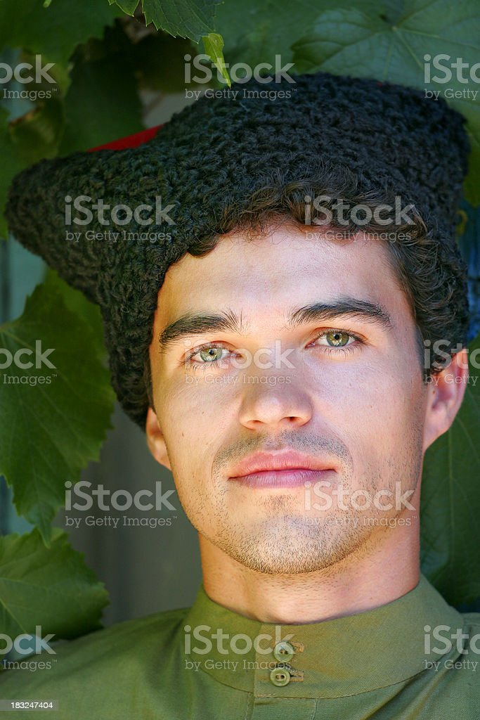 Russian Cossack stock photo