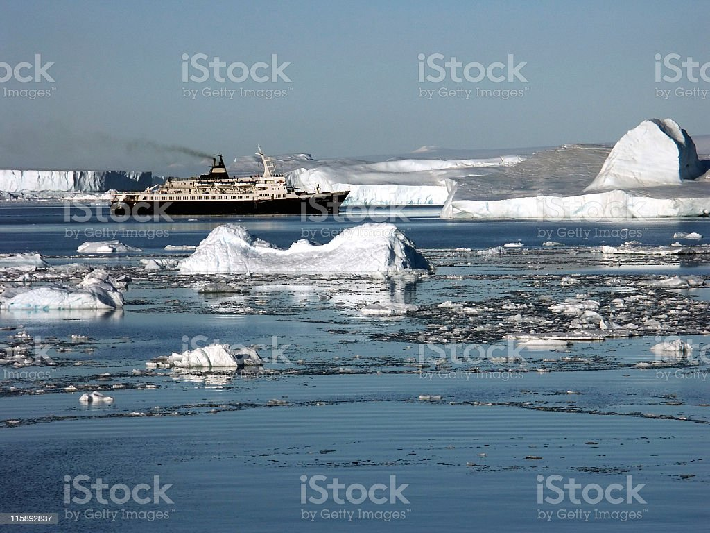 Russian cruise ship royalty-free stock photo