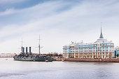 Russian cruiser Aurora in Saint Petersburg, Russia
