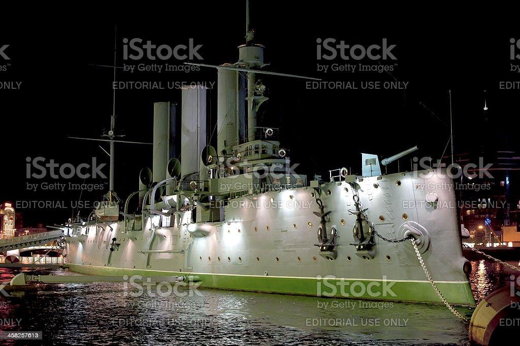 Russian cruiser Aurora stock photo