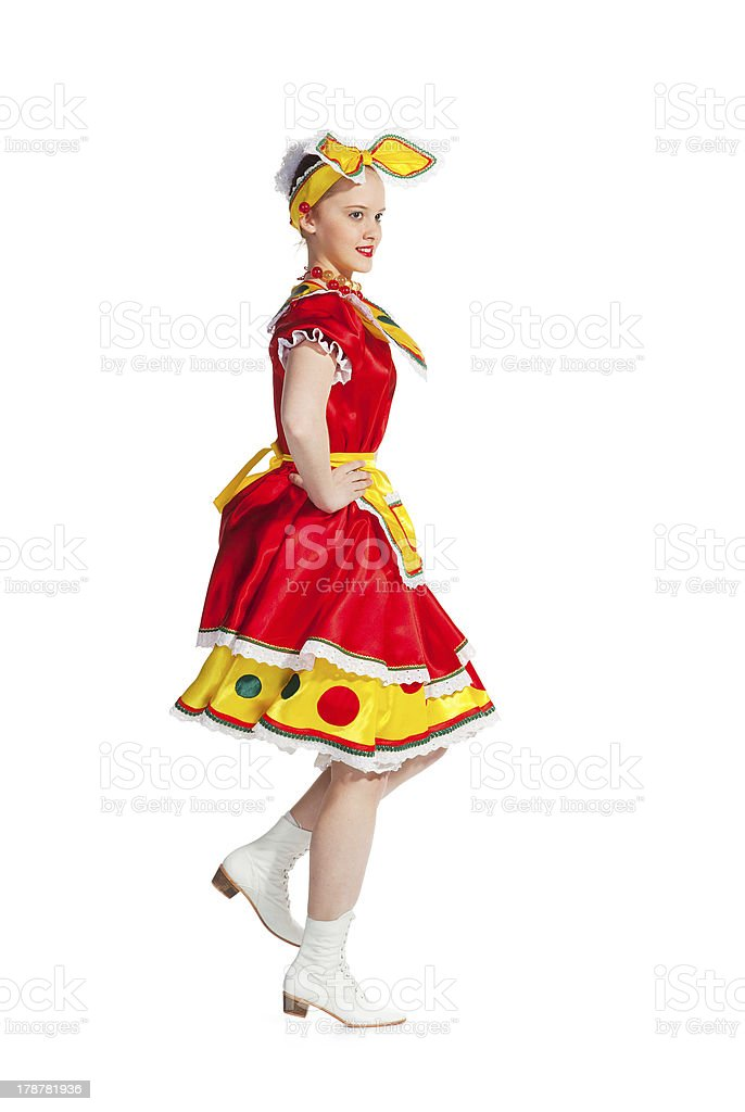 Russian dance royalty-free stock photo