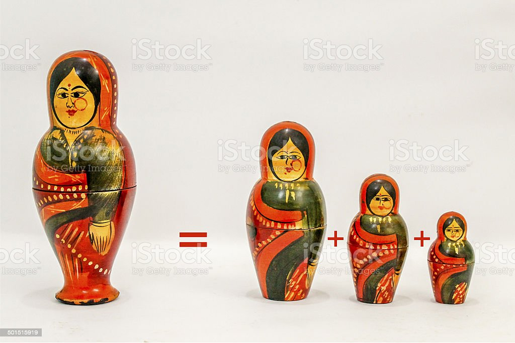 Russian doll. royalty-free stock photo