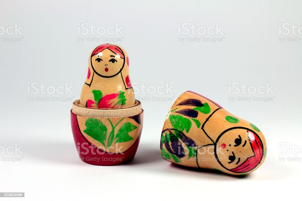 russian doll stock photo
