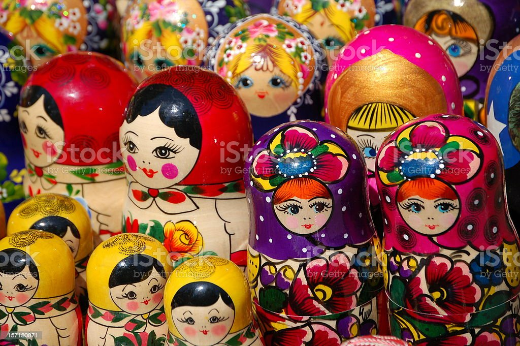 Russian Dolls II royalty-free stock photo