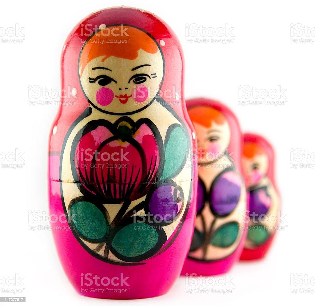 Russian dolls - matreshka royalty-free stock photo