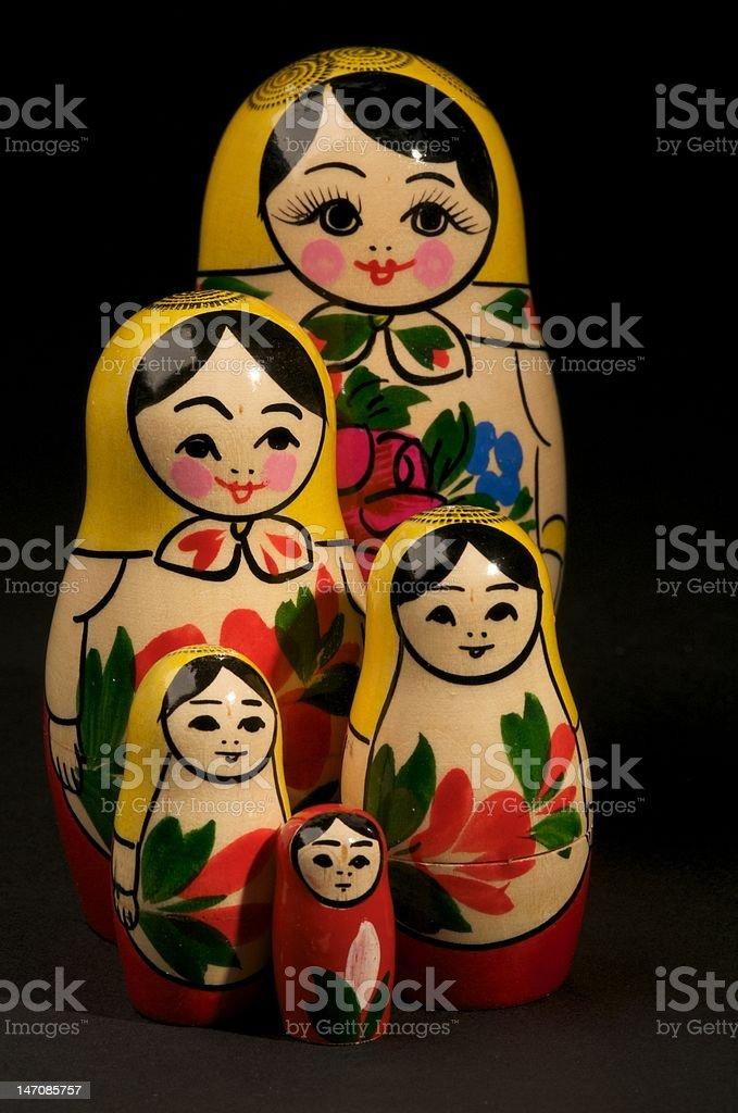 Russian Dolls vector art illustration