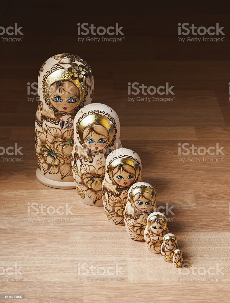 Russian dolls royalty-free stock photo