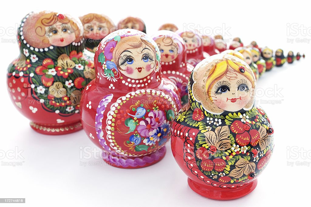 Russian dolls. royalty-free stock photo