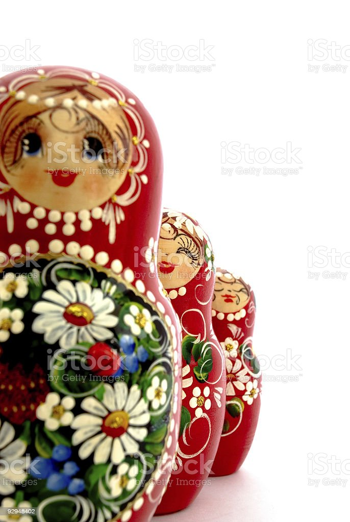 Russian Dolls royalty-free stock photo