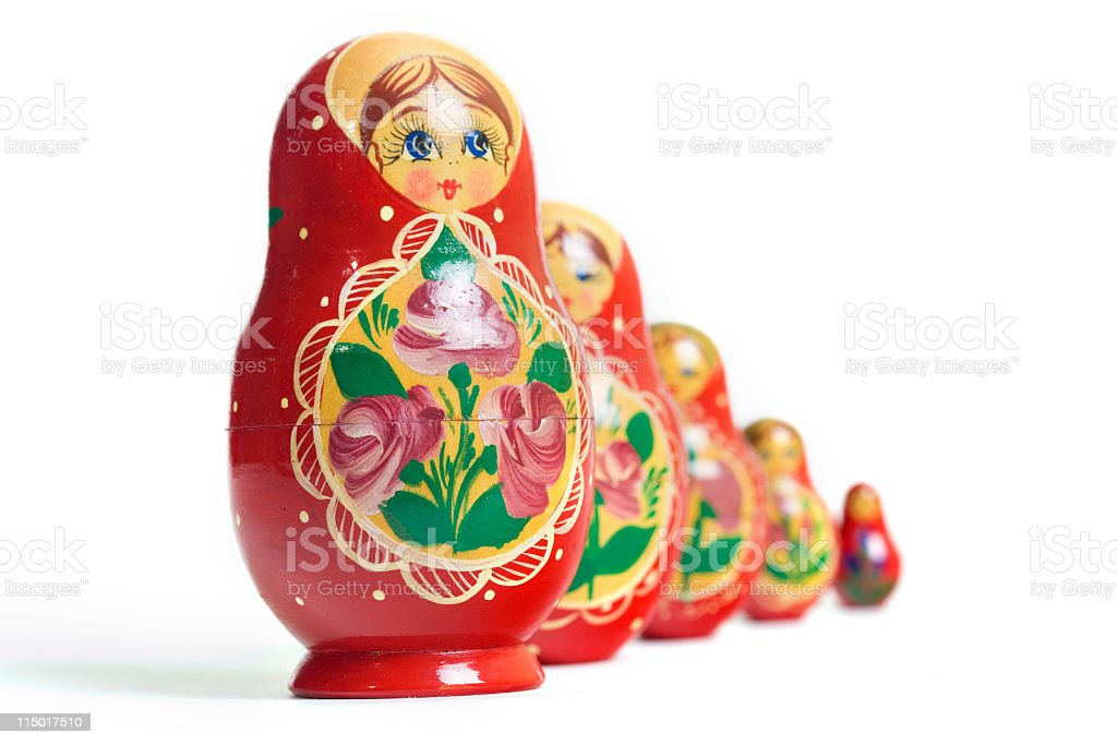Russian Dolls XL royalty-free stock photo