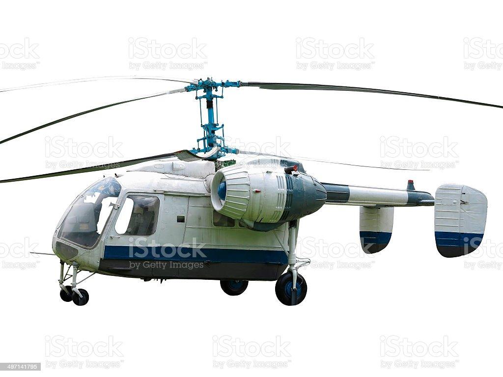 KA - 26 Russa rotor de Helicóptero duplo isolado no branco backgrou foto de stock royalty-free