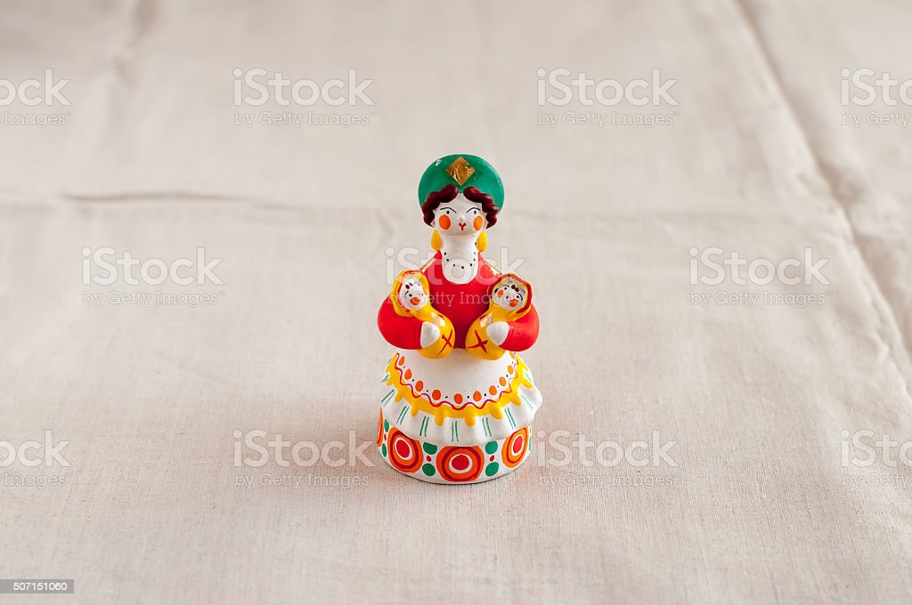 Russian Dymkovo toy stock photo