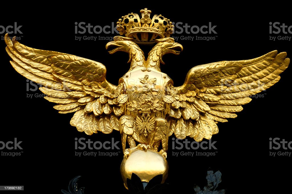 Russian Eagle royalty-free stock photo