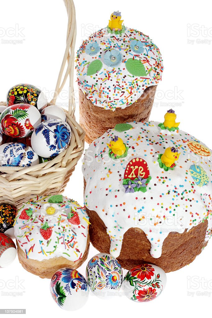 Russian Easter cake stock photo