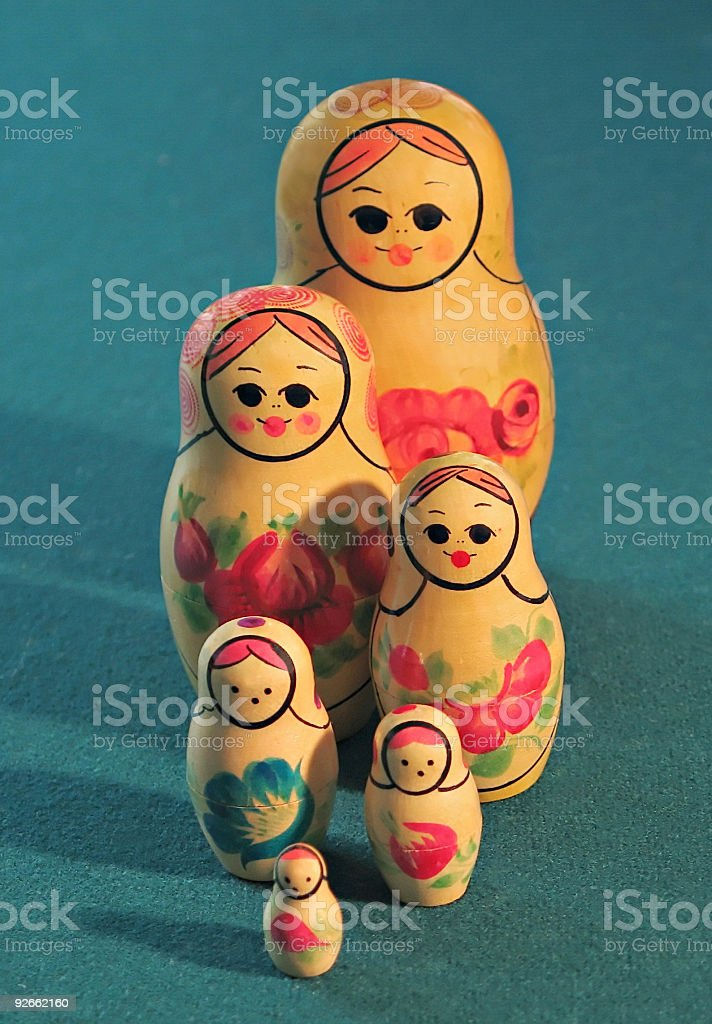 Russian Family royalty-free stock photo