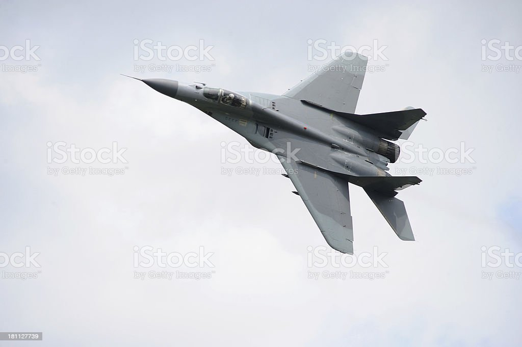 Russian fighter Mig 29 stock photo