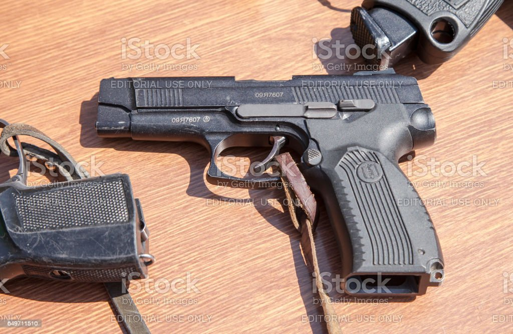 Russian firearms. Pistol of Yarygin PYa, MP-443 Grach stock photo