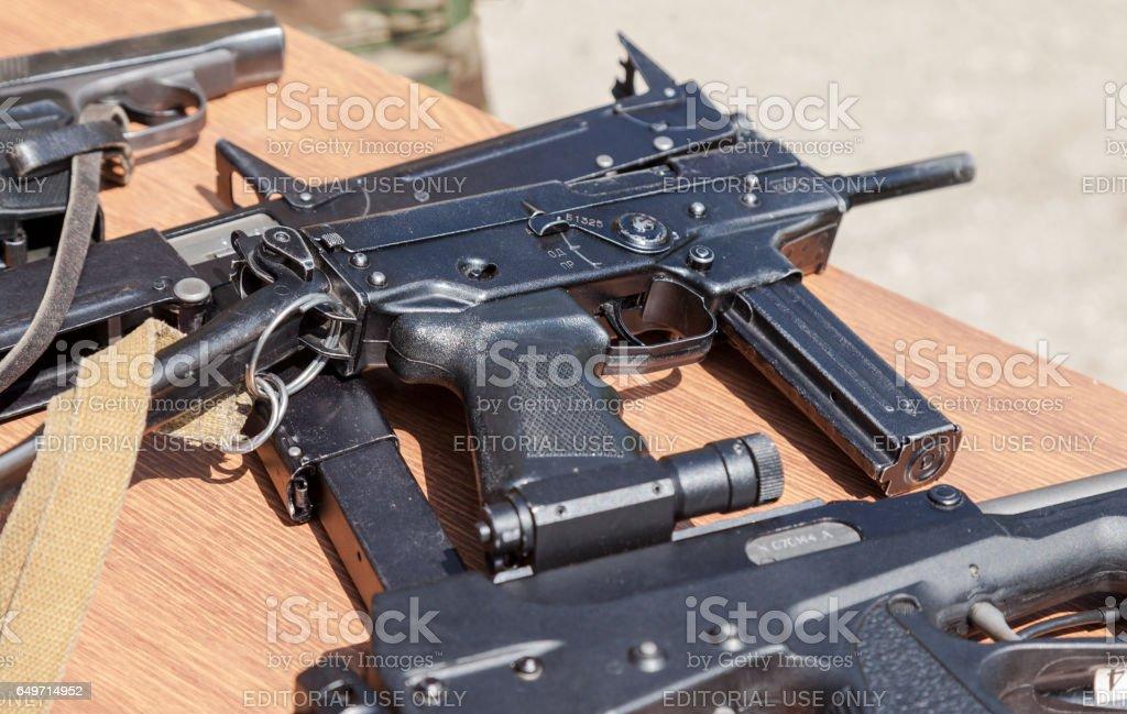 Russian firearms. Submachine gun Kedr stock photo