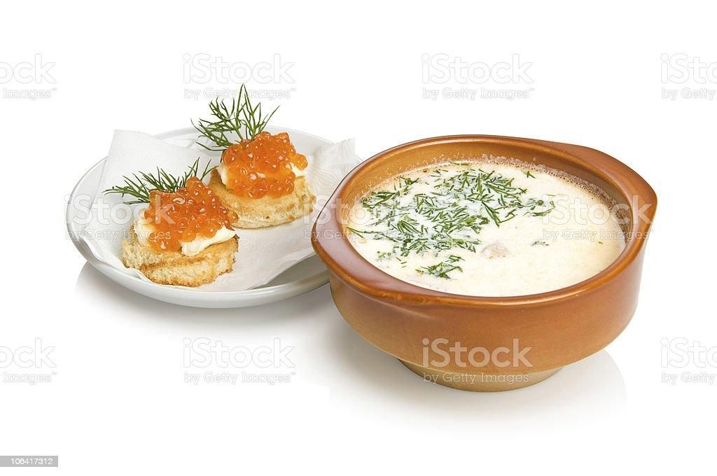 Russian fish soup Ukha royalty-free stock photo
