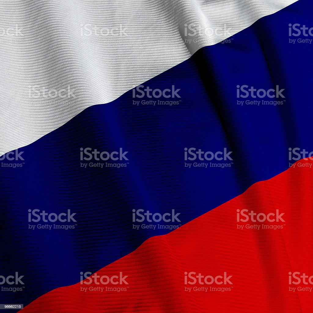 Russian Flag Closeup royalty-free stock photo