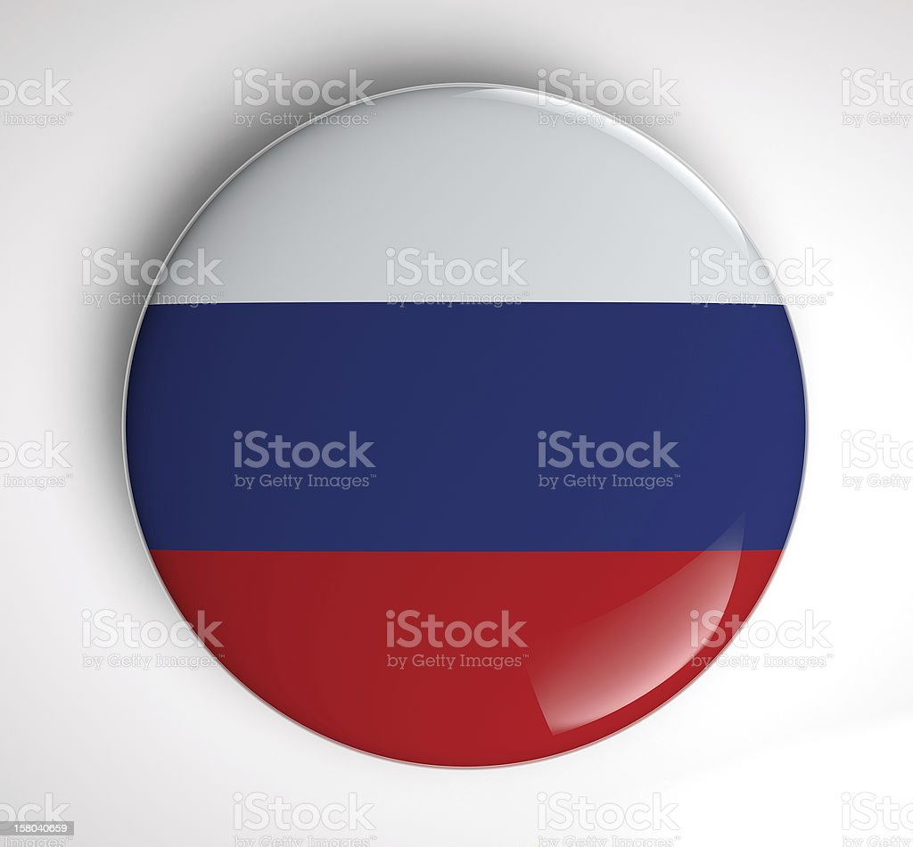 Russian Flag icon royalty-free stock photo