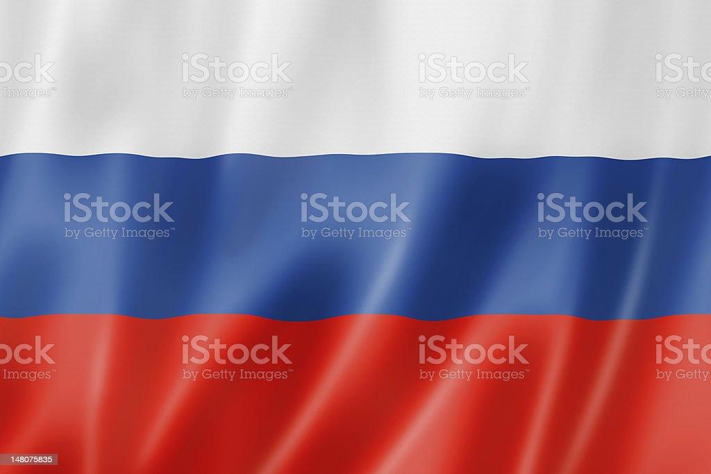 Russian flag stock photo