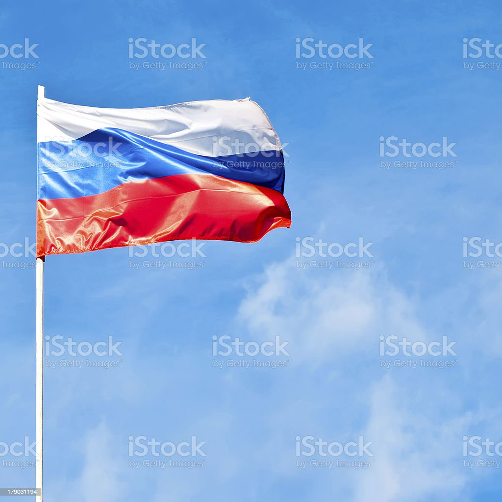 russian flag royalty-free stock photo