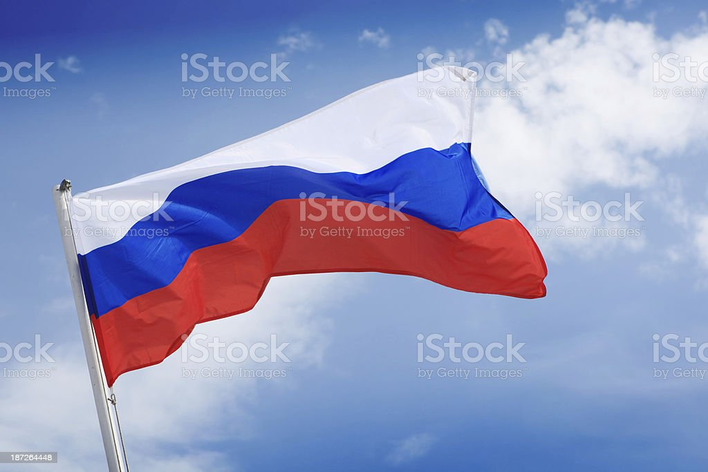 Russian flag stock photo