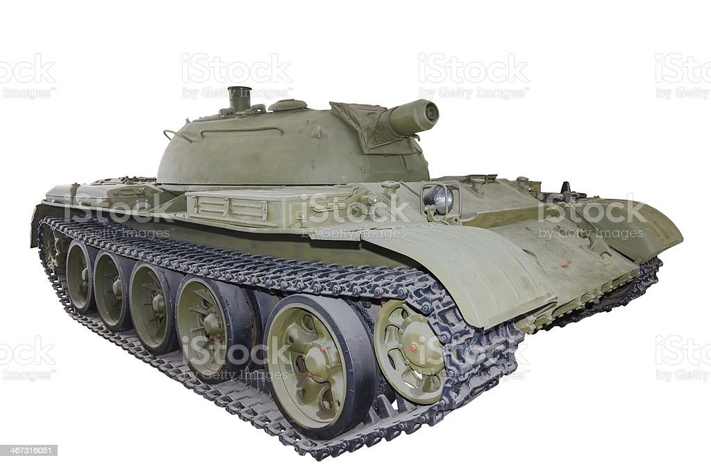 Russian flamethrower tank Object 483 isolated stock photo