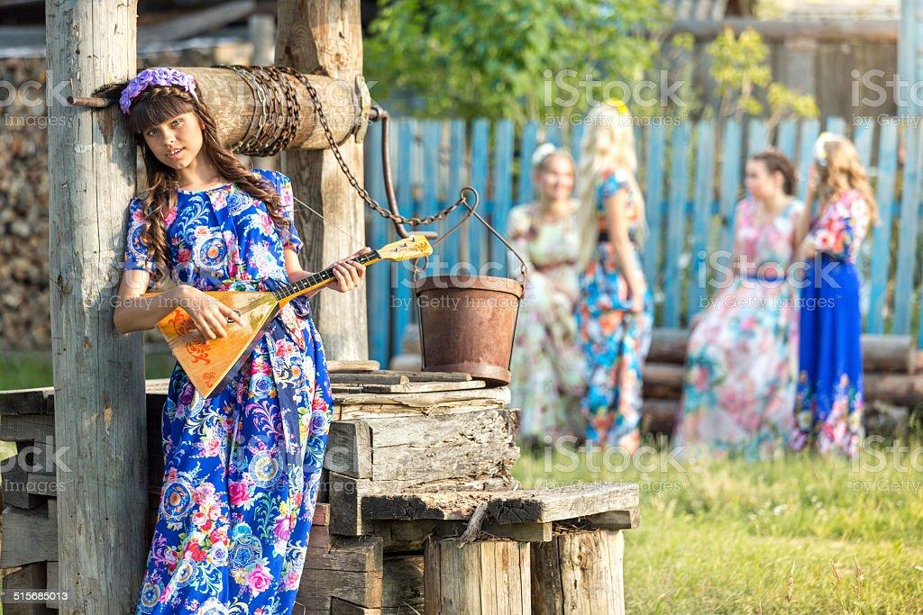 Russian folk music for soul stock photo