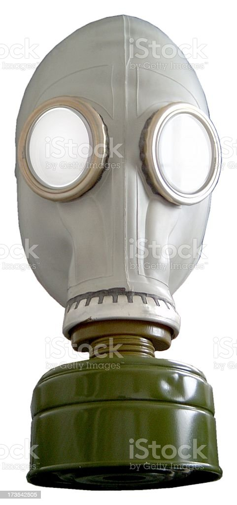 Russian Gas Mask on white background royalty-free stock photo