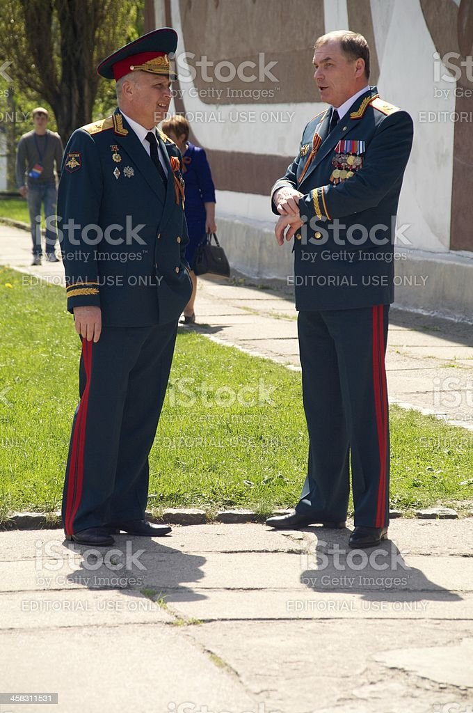 russian generals royalty-free stock photo