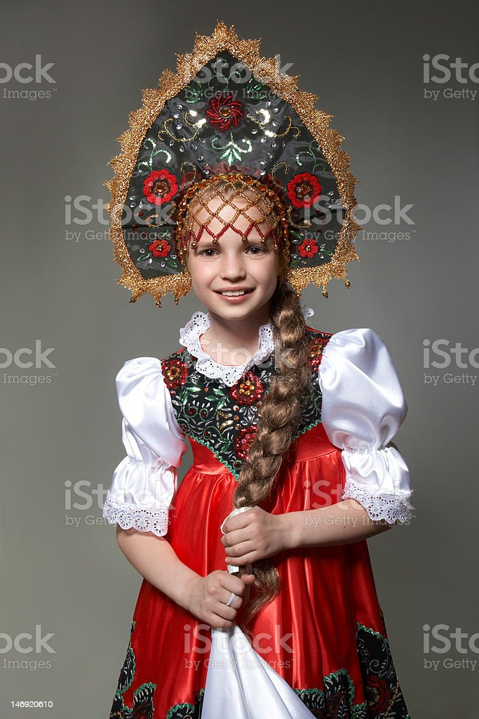 Russian girl royalty-free stock photo