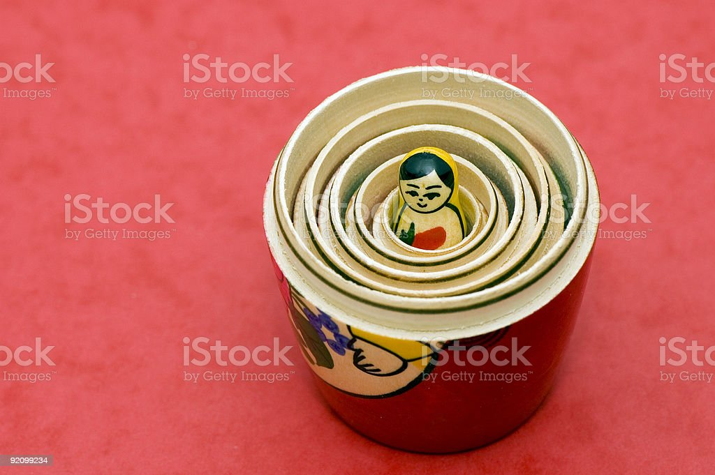 russian girl toy royalty-free stock photo
