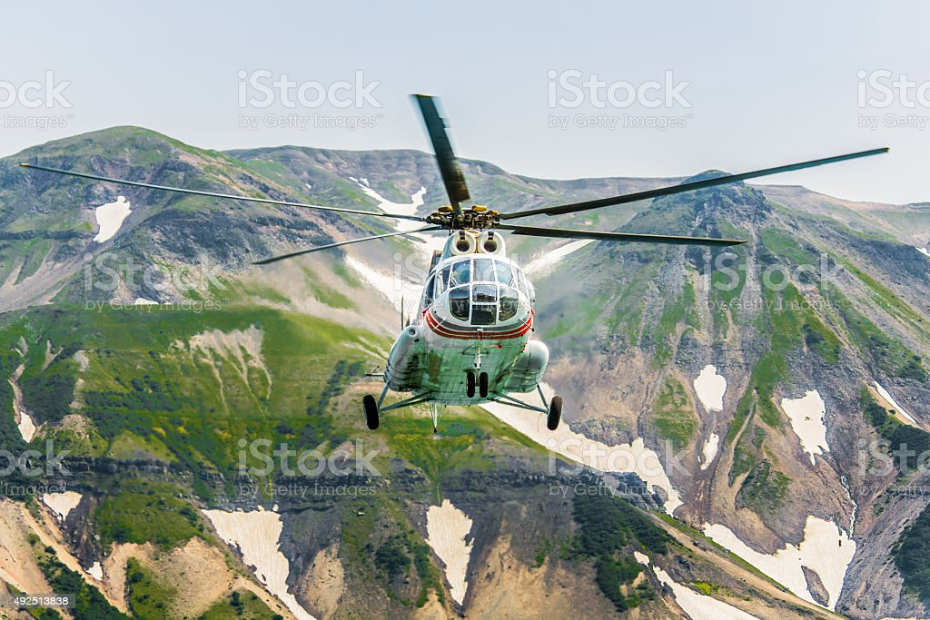 Russian Helicopter Mi-8 stock photo