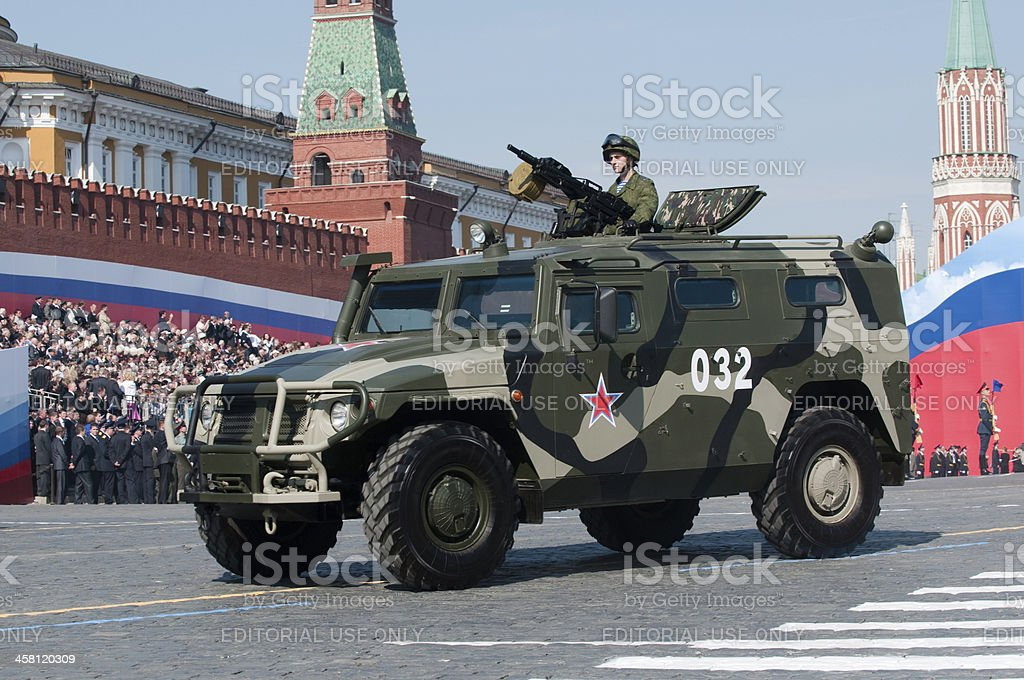 "Russian high mobility multipurpose military vehicle ""Tigr"" (Tiger) royalty-free stock photo"