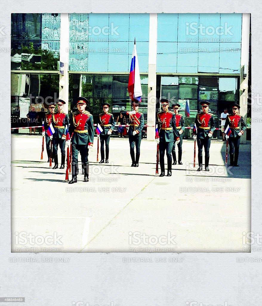 Russian Honor Guard in Nova Gorica Slovenia royalty-free stock photo