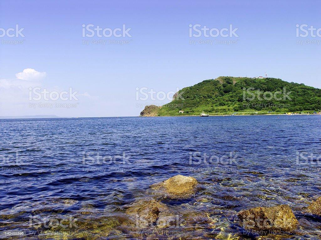 Russian island stock photo