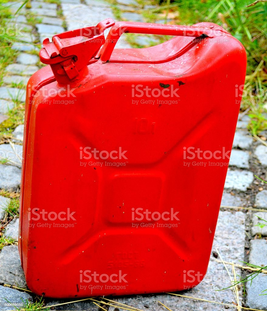 Russian Jerry can stock photo