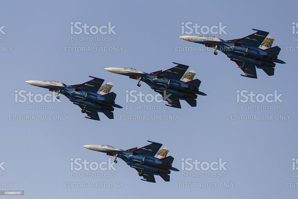 Russian Knights stock photo