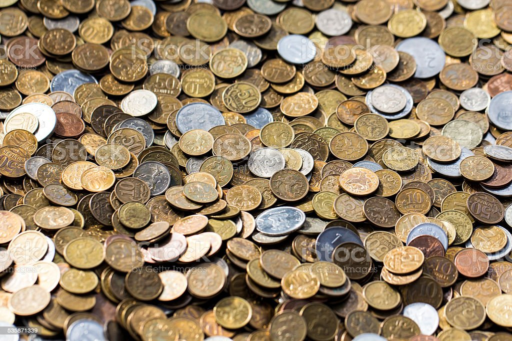 Russian Kopeck Coins stock photo