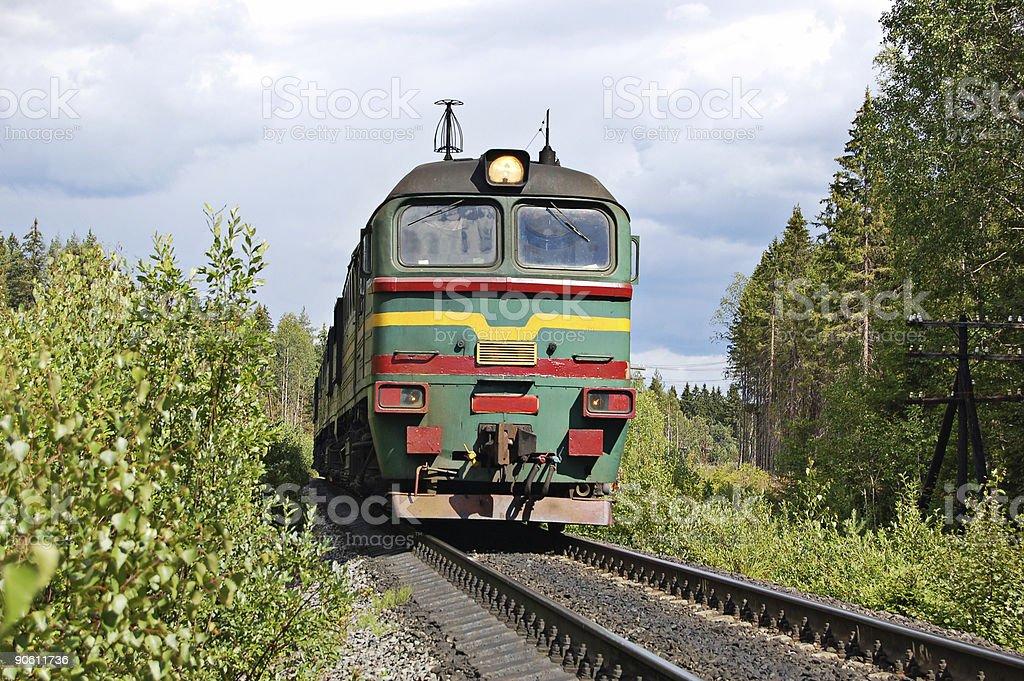 Russian locomotive royalty-free stock photo