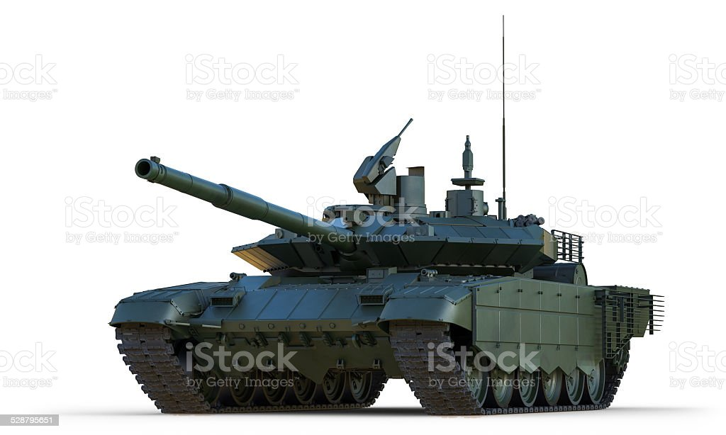 Russian Main Battle Tank. Isolated. stock photo