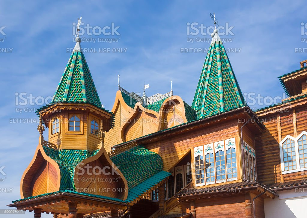 Russian mansion stock photo